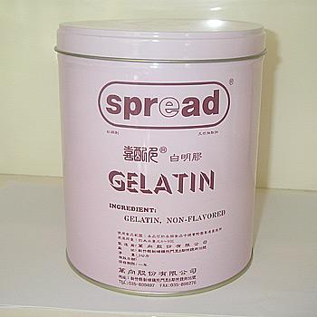 White gelatin