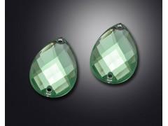 2 holes of drop shape earth surface acrylic rhinestone