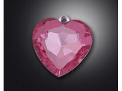 B heart shape acrylic rhinestone