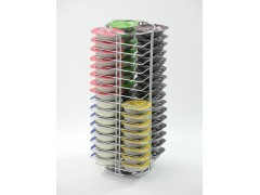 Tassimo Coffee Capsules Rotating Rack With 64 Pods Easy to organize, Rotating function