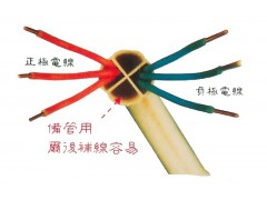 Electrical PVC conduit with separate compartments