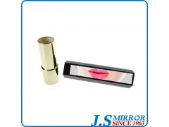ys660 shiny gold plastic cosmetic lipstick container with mirror