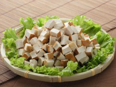 Diced dried tofu