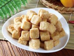 Oily tofu squares