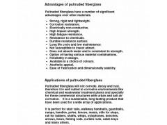 Advantages of pultruded fiberglass