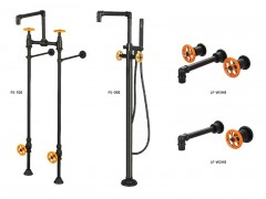 Industrial loft style bathroom faucets, series 8