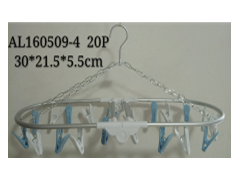 Multifunctional Aluminum Laundry Hanger w/ 20 Colored Pins