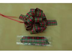 Tartan plaid pull bow