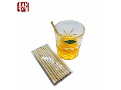 One Time Use Biodegradable Bamboo Fiber Straw