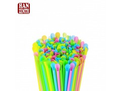 One Time Use Biodegradable PLA Spoon Straw