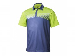 Two-Tone Stripe Polo Shirt