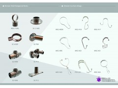 Shower rod parts & hooks
