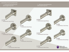 1 inch ID Shower Rod Brackets / Flanges