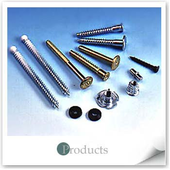 Furniture Fasteners in Brass or Zinc Coating