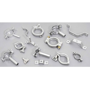 stainless steel clamp / pipe holder