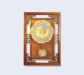 Brass Mirror Clock