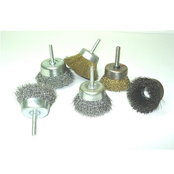 CUP BRUSHES WITH SHANK