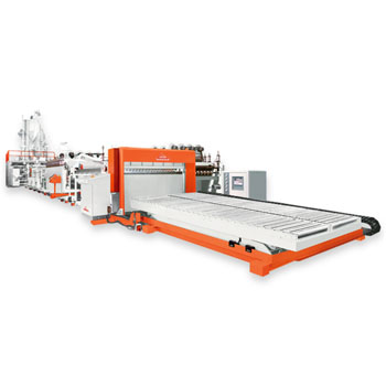 Flat/Corrugated Extrusion Sheet Line / PP Flat & Corrugated Sheet Forming Equipment
