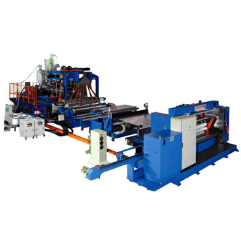 Plastic Film Extruder / TPU 3 Axis Multi-layer Film Extrusion Line