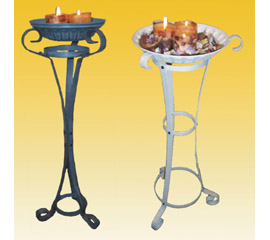 CANDLE PLATE WITH STAND