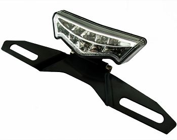 Universal Taillight with license bracket, LED, ECE approved